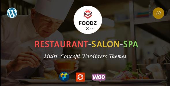 Foodz - Restaurant, Spa & Salon WordPress Theme