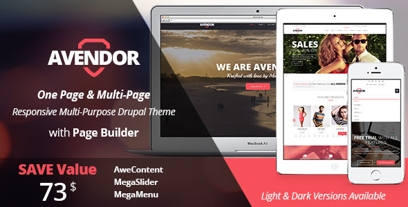 AVENDOR – Responsive Multi-purpose Drupal Theme