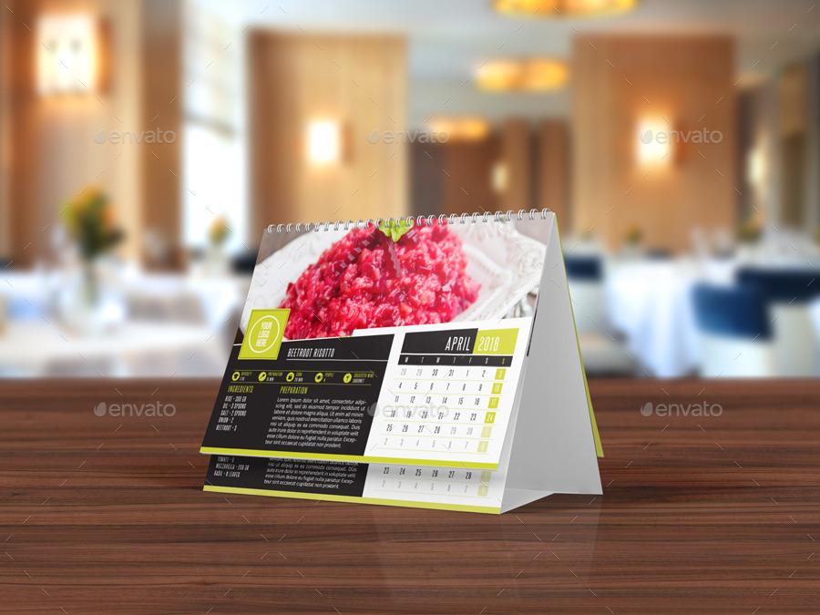 Elegant Desk Calendar Design : Elegant recipes desk calendar template by dogmadesign