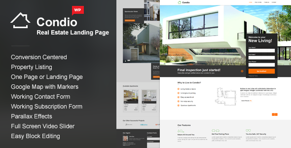 Single Property WordPress Theme - Condio - Real Estate WordPress
