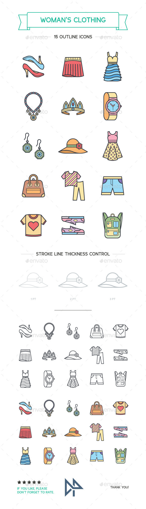 Woman's Clothing and Attributes  - Man-made Objects Objects