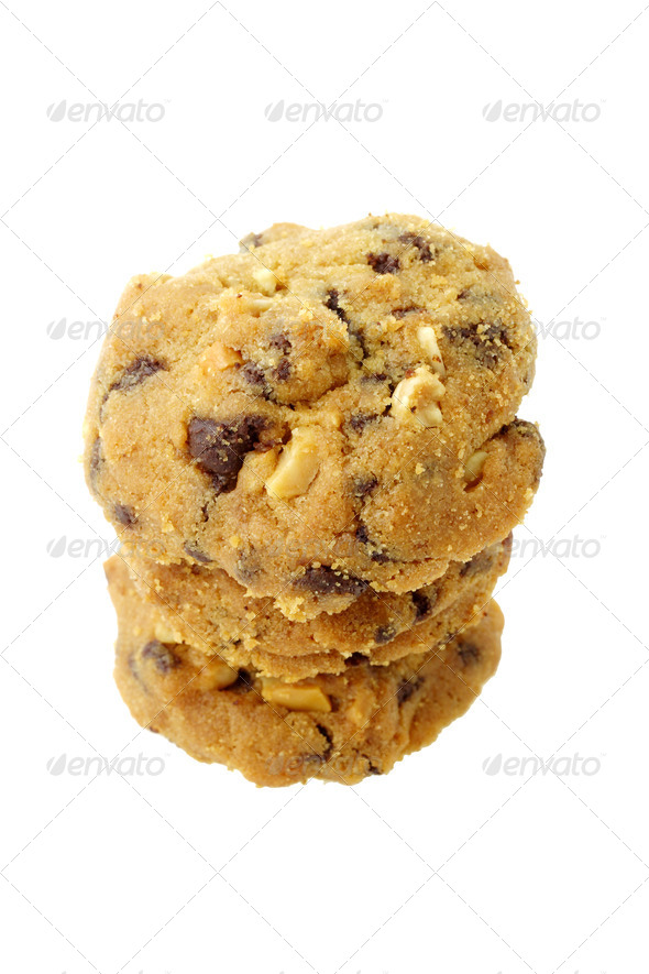 Almond chocolate chip cookies - Stock Photo - Images