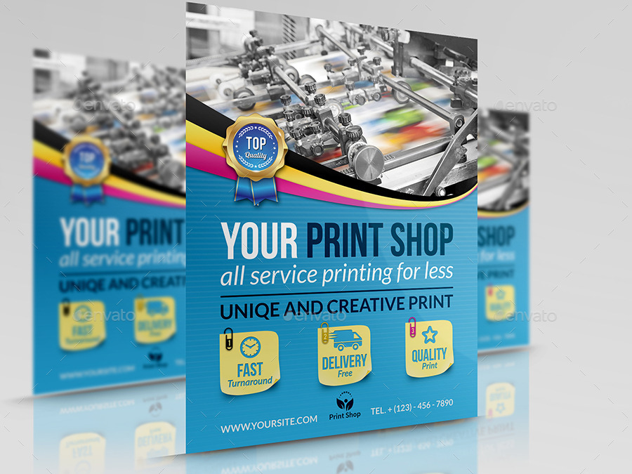 print shop advertising bundle template by owpictures graphicriver