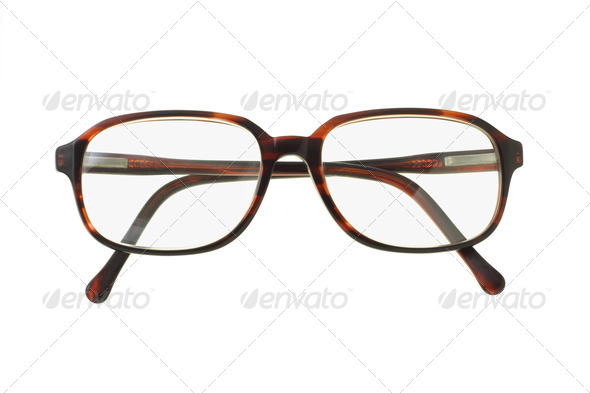 Old fashion plastic rim spectacles - Stock Photo - Images
