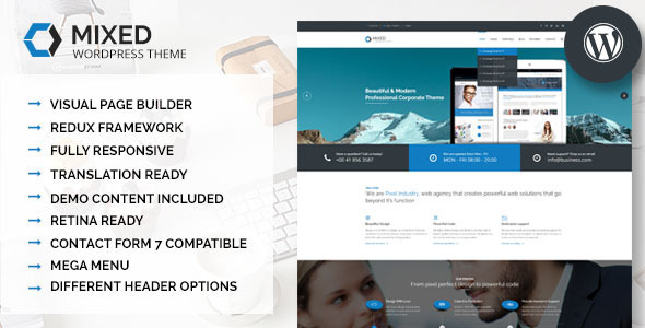 Mixed – Modern and Professional WordPress Theme