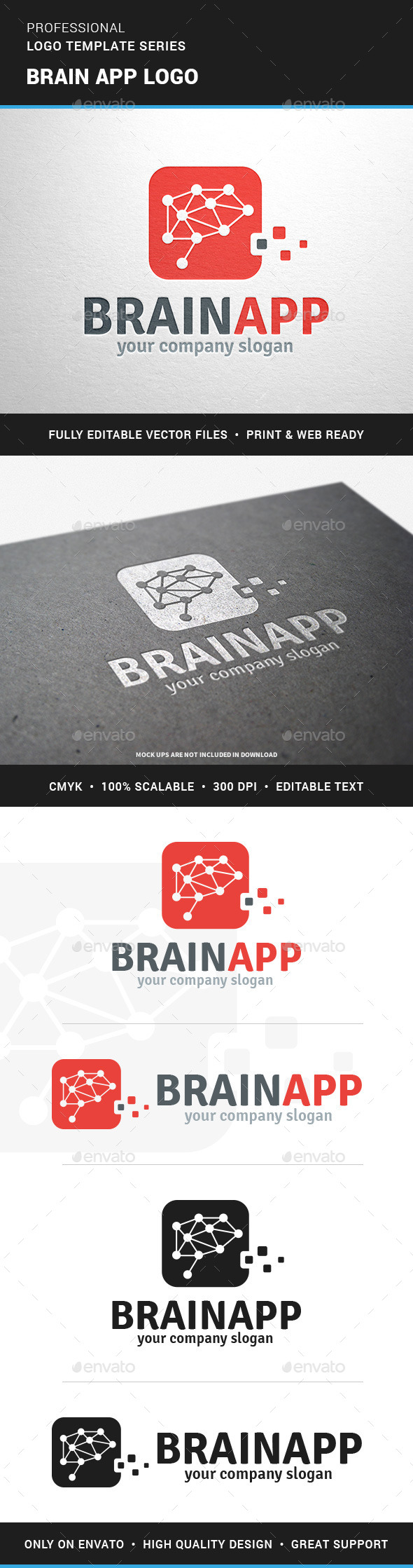 Brain App Logo Template