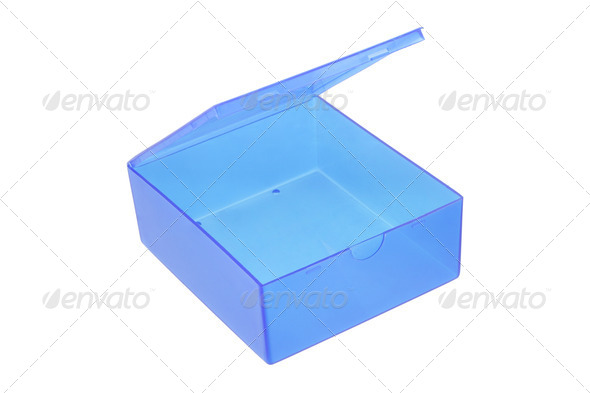 Open plastic box - Stock Photo - Images