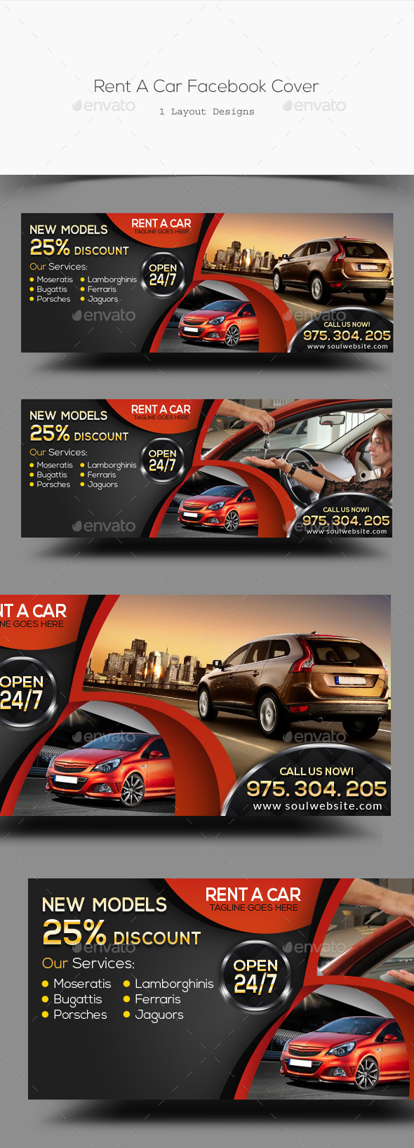 Rent A Car Facebook Cover