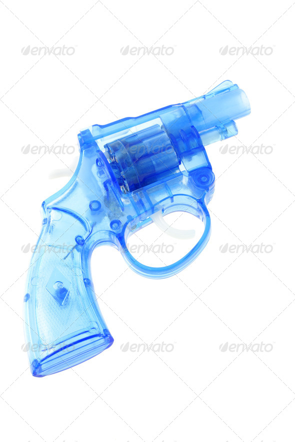 Plastic toy gun - Stock Photo - Images