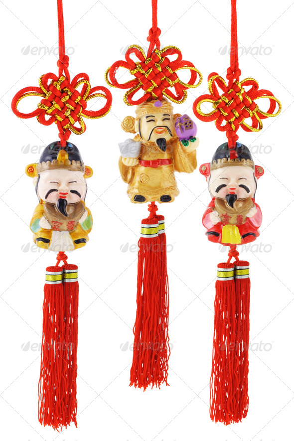 Chinese prosperity figurines - Stock Photo - Images