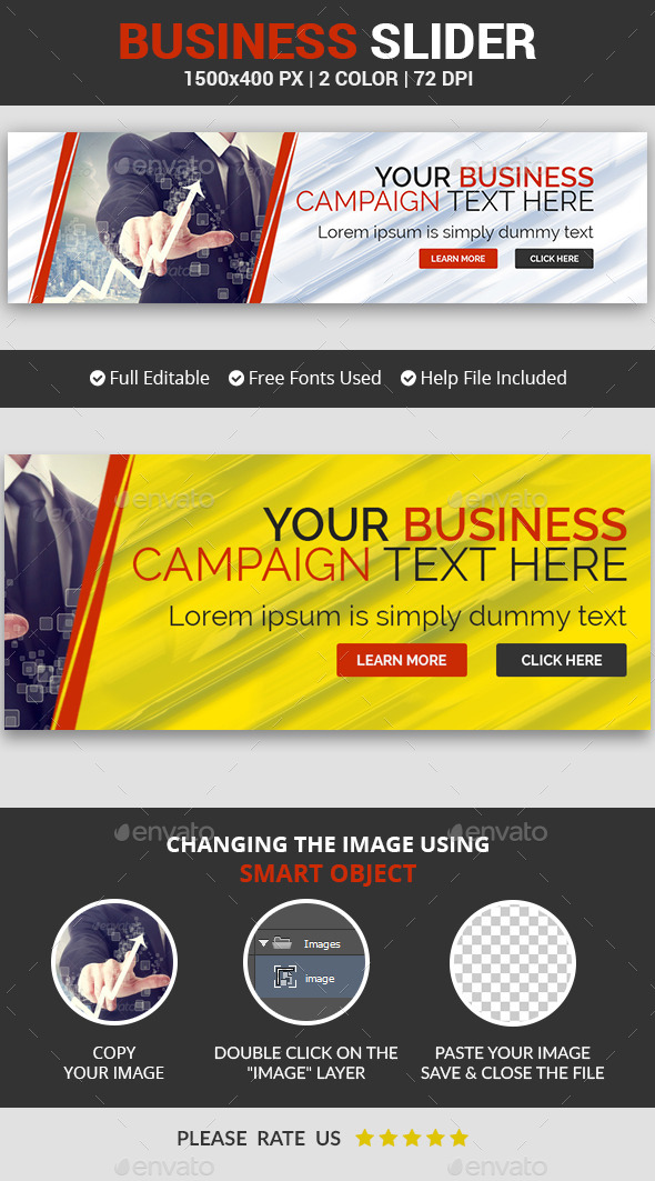Business Slider v10 - Sliders & Features Web Elements