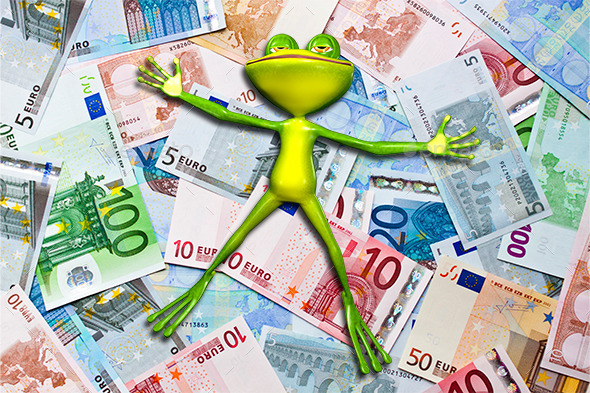 Frog Money - Characters 3D Renders