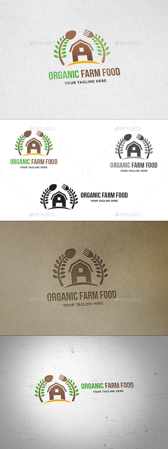 Organic Farm Food Logo - Nature Logo Templates