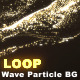 Wave Particle Background Gold - VideoHive Item for Sale