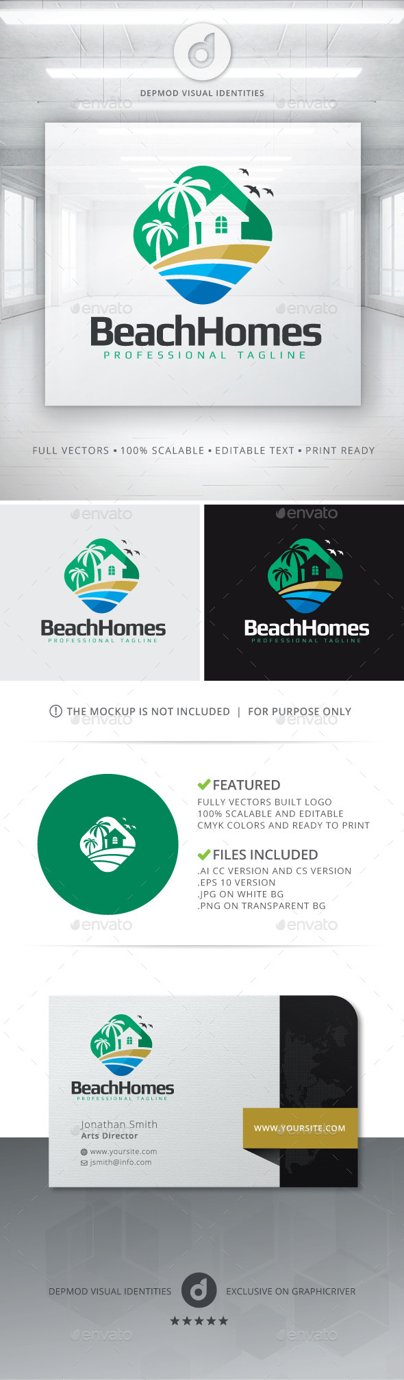 Beach Homes Logo - Buildings Logo Templates