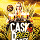 Cask Beer Party | Flyer Template PSD - GraphicRiver Item for Sale