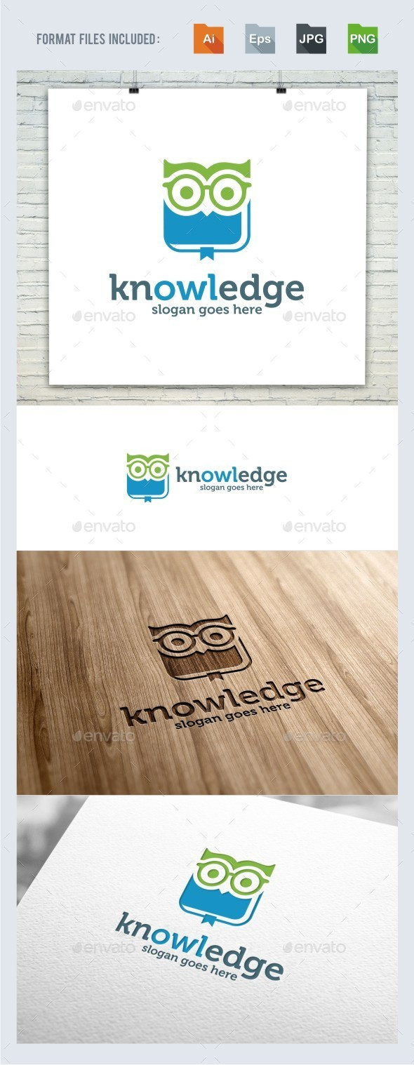 Knowledge Owl Logo Template