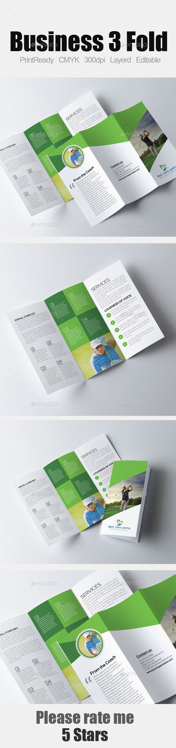 Golf Club Tri Fold Brochure - Corporate Brochures