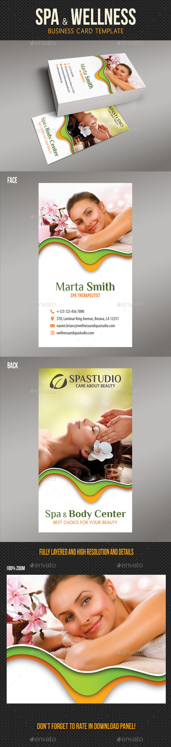 Spa And Beauty Business Card 07 - Industry Specific Business Cards