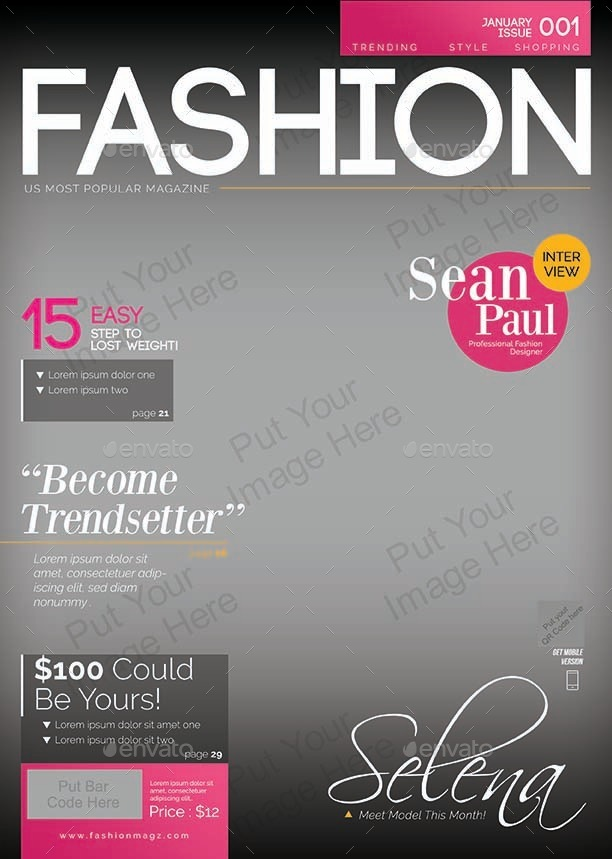 Magazine Cover Template 4 In 1 By Shamcanggih Graphicriver