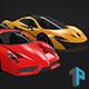 Low Poly Destructible 2Cars no. 7 - 3DOcean Item for Sale