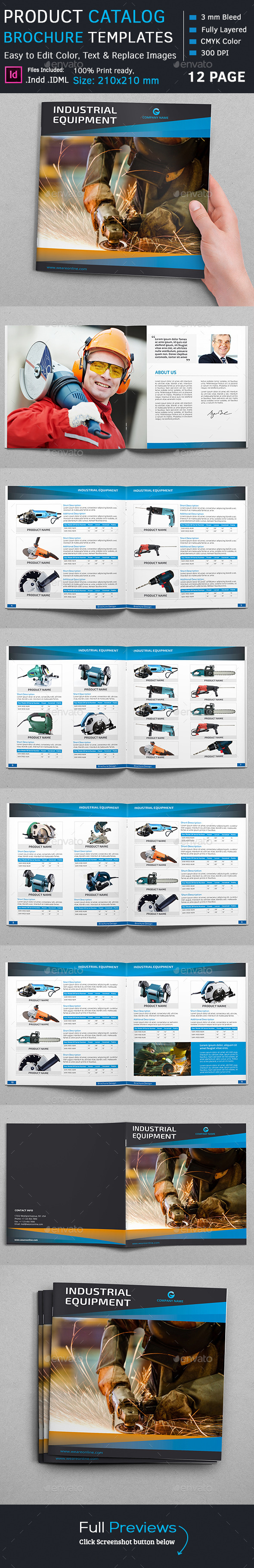 Product Catalog Square Brochure - Catalogs Brochures