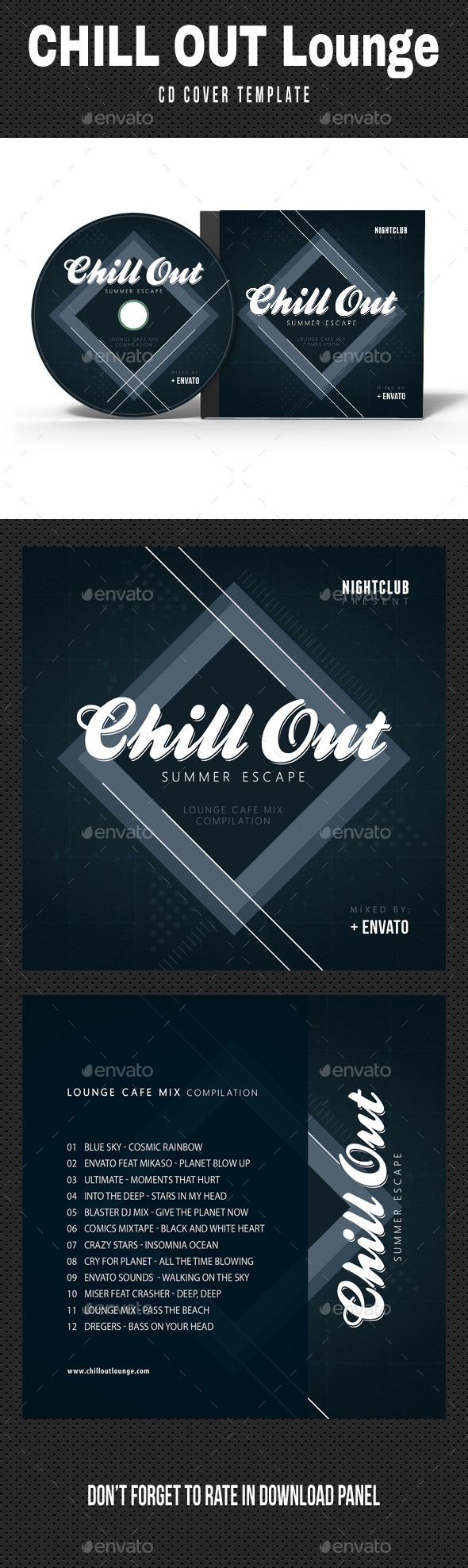 Chill Out Lounge CD Cover - CD & DVD Artwork Print Templates