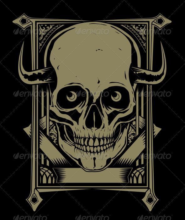 Gold Skull - Backgrounds Decorative