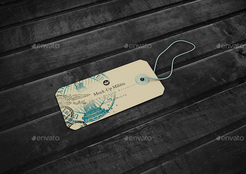 swing tag hang tag product label mock up by mock up militia