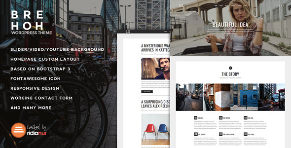 Brehoh - Responsive One Page Portfolio Theme