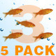 5 Pack - Goldfish Chroma Key - VideoHive Item for Sale
