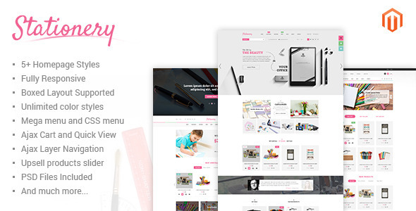 Stationery – Responsive Magento Theme
