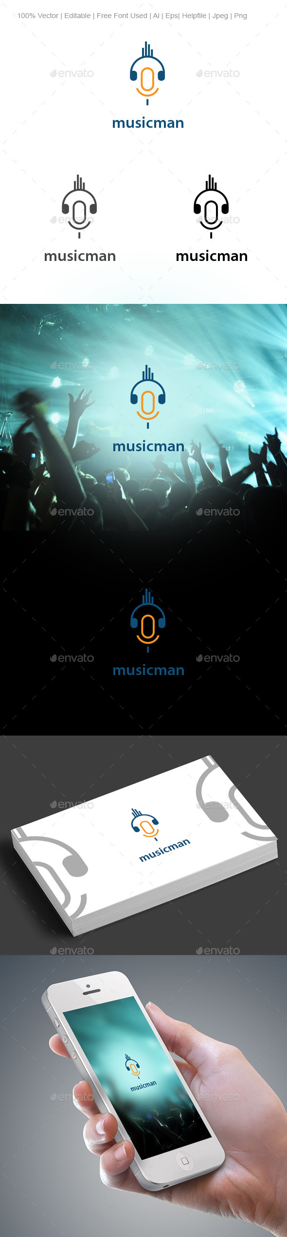 musicman - Humans Logo Templates