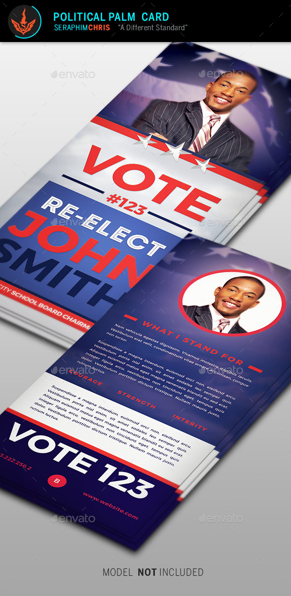 Re-Election Palm Card Template - Corporate Flyers
