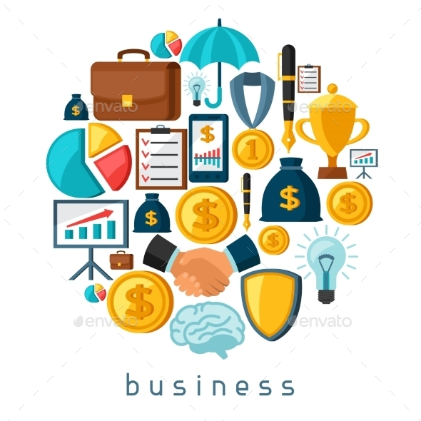 Business And Finance Concept From Flat Icons
