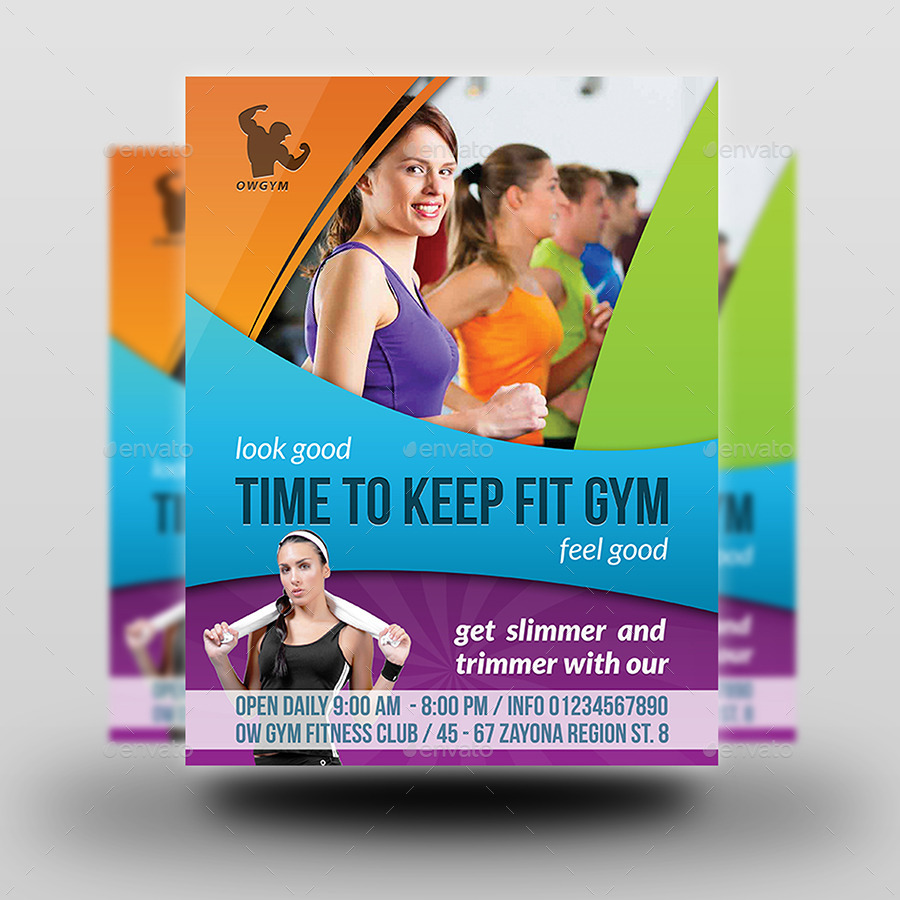 Fitness GYM Flyer Template Vol3 by OWPictures – Free Fitness Flyer Templates