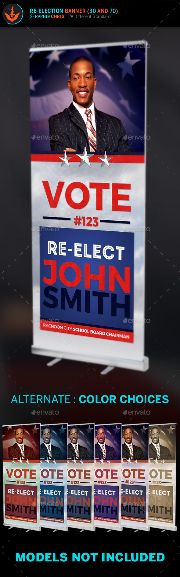 Re-Election: Banner Template - Signage Print Templates