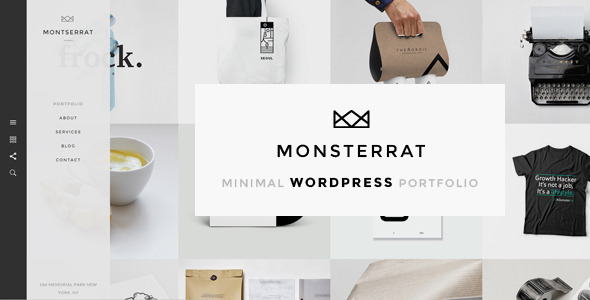 Monsterrat – Minimal WordPress Portfolio Theme