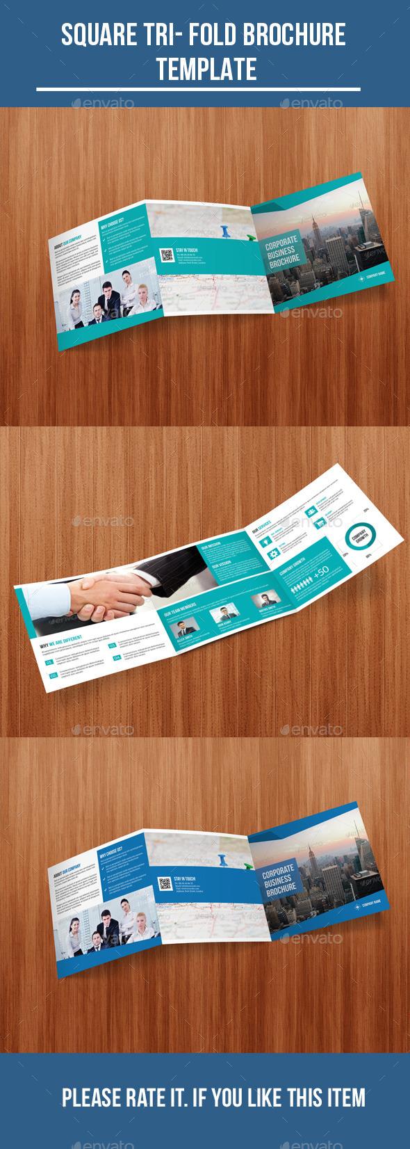Square Tri- Fold Corporate Brochure - Corporate Brochures