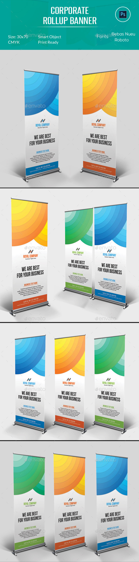 Corporate Rollup Banner - Signage Print Templates