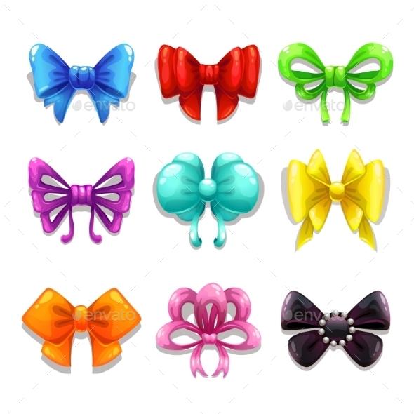 Colorful Bows Set - Decorative Symbols Decorative