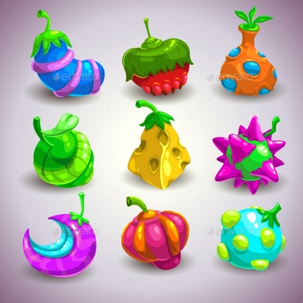 Fantasy Fruits - Monsters Characters