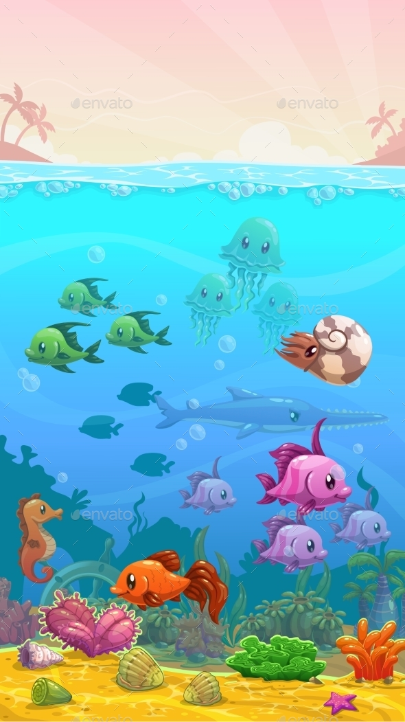 Underwater Tropical Illustration - Landscapes Nature