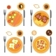Breakfast Icons Flat Set With Four Options Of Food - GraphicRiver Item for Sale