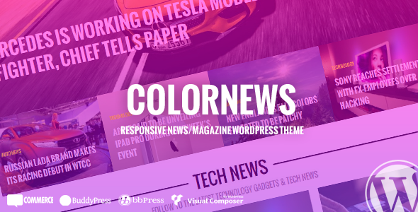 ColorNews – News/Magazine WordPress Theme