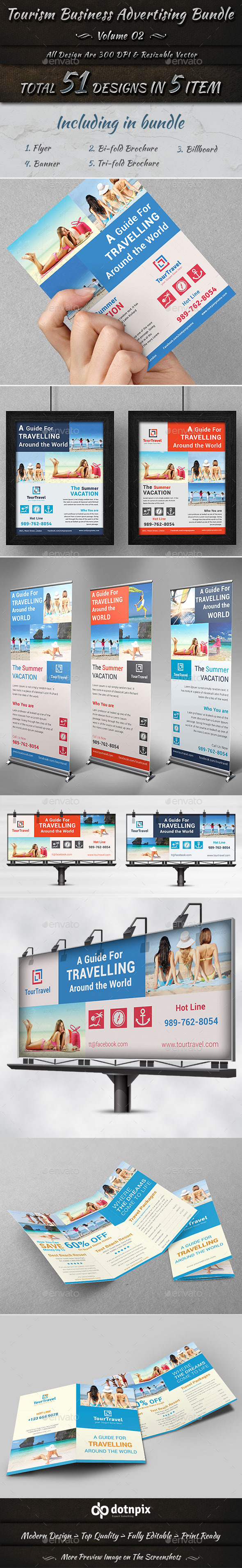 Tourism Business Advertising Bundle | Volume 2 - Corporate Flyers