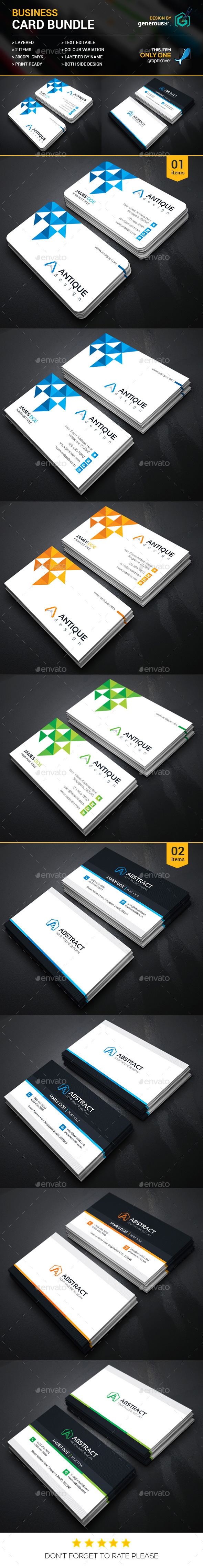 Business Card Bundle 2 in 1 12