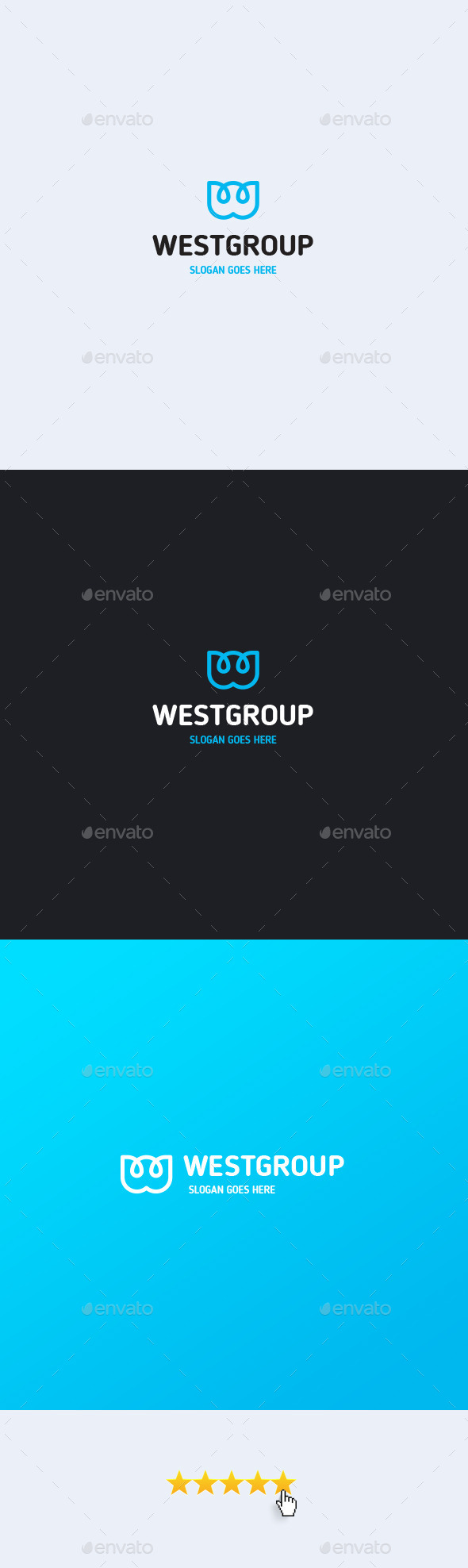 West Group Letter W Logo Template