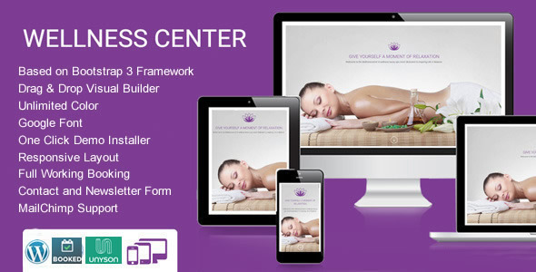 WellnessCenter Beauty Spa salon WordPress Theme - Health & Beauty Retail