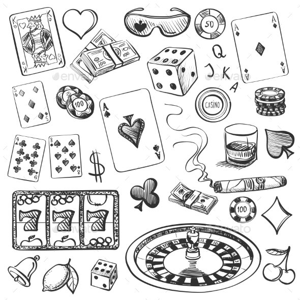 Hand Drawn Casino Collection - Sports/Activity Conceptual